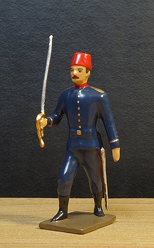 soldats de plomb et figurines de collection - boutique au plat d'étain à Paris - Officier turc